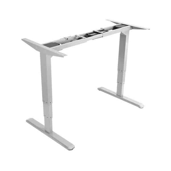 White Electric Standing Desk