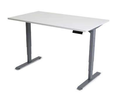 Grey Top Sit Stand Desk