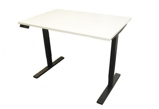 White Top Electric Height Adjustable Desk, Includes Top & Frame