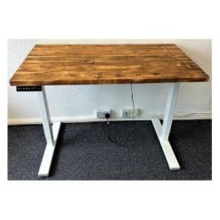 Rustic pine stand-up desk.