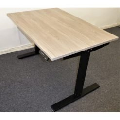 NEW! Grey Wood Top Electric Height Adjustable Desk, Includes Top & Frame